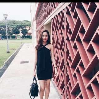Little Black Halter Dress LBD