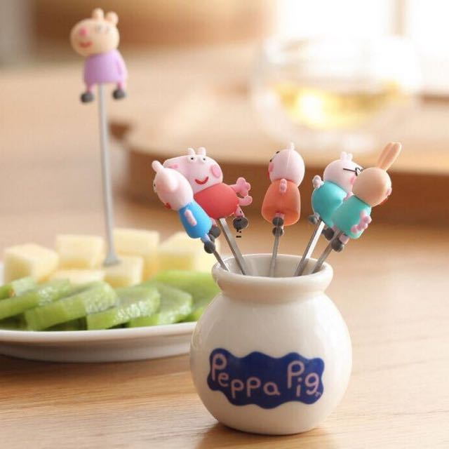 🐷佩佩豬水果叉套装🐷