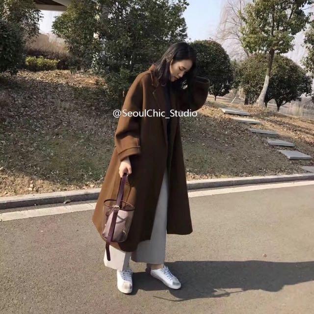 韓版透明百搭水桶手提子母包