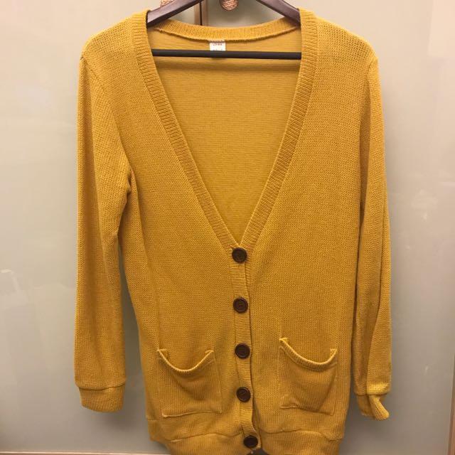 👗芥黃罩衫