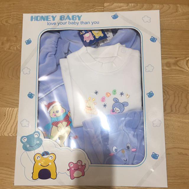 寶寶 周歲 服飾禮盒 外套+衫+長褲