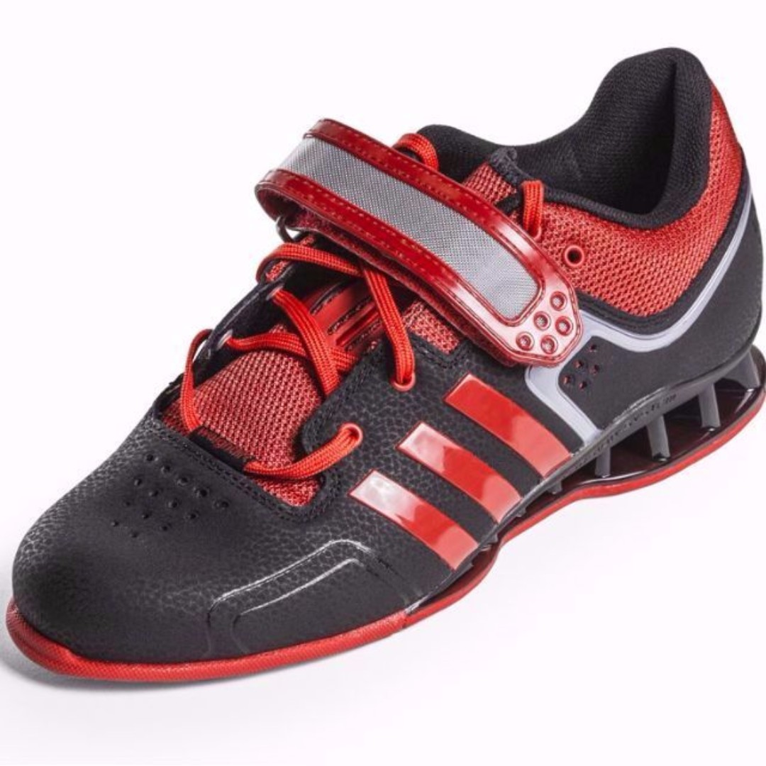 fcfb6754066870 Adidas Adipower Weightlifting Shoes (Black Scarlet Tech Gray ...