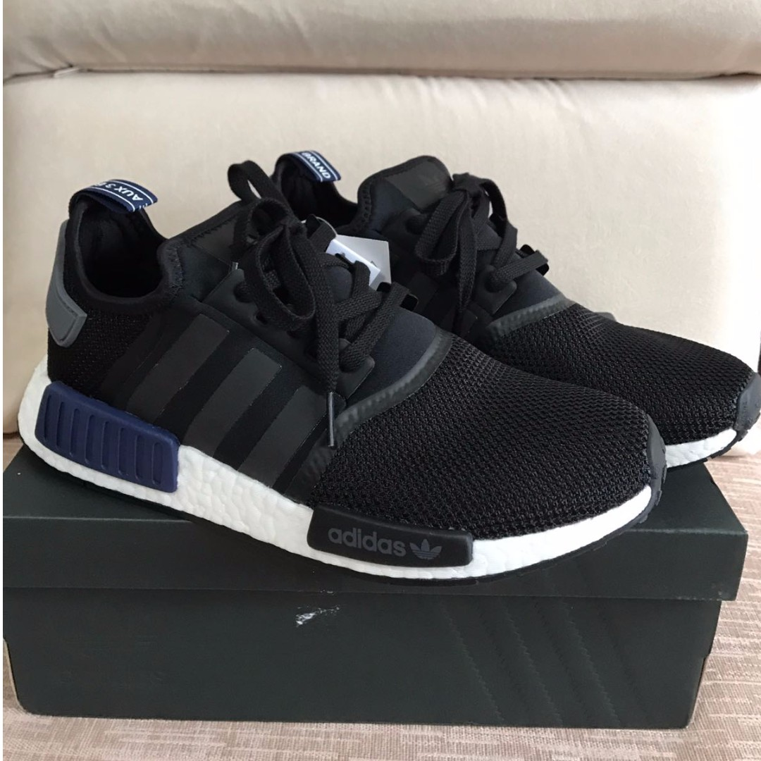 d827c6d56761b Authentic  Adidas NMD R1 Black Blue Tab