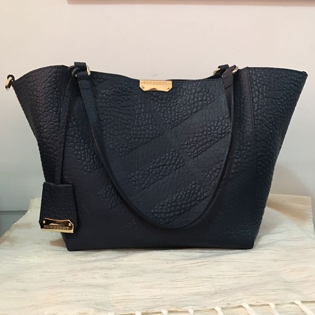 Authentic Burberry Canterbury Elephant Embossed Leather Bag