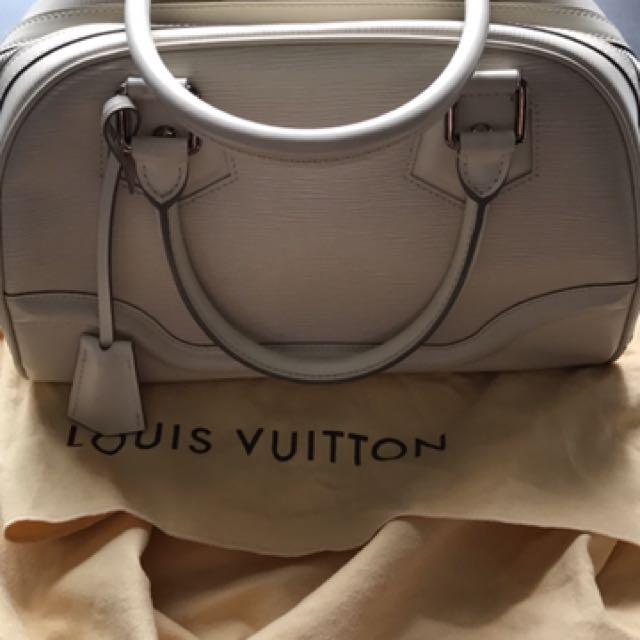 Authentic cream lv epileather bag