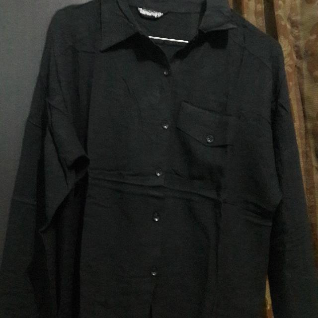 Baju Kerja Black Size L