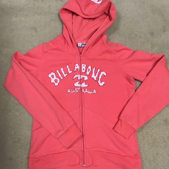 Billabong size 14 ladies hooded jacket EUC