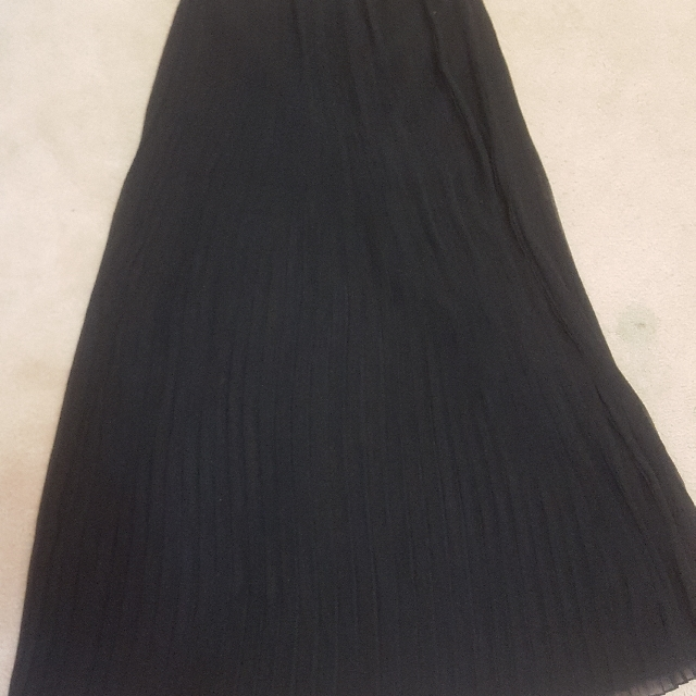 Black See Thru Plaid Skirt
