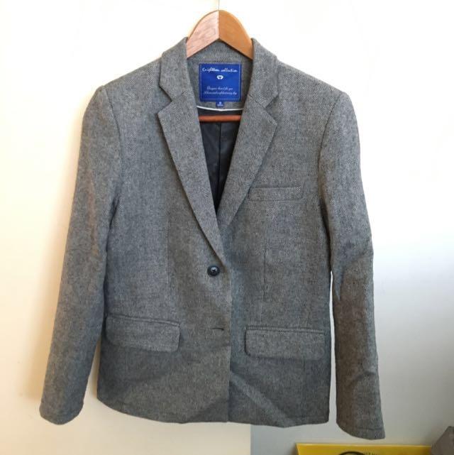 blazer jacket Thin Wool , Boyfriend Style