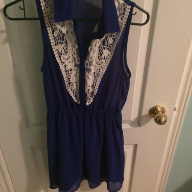 Blue And Lace Dress