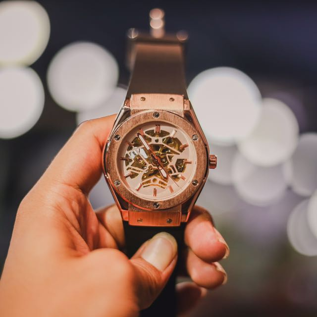 BNIB Razed White Automatic Watch 100% Original