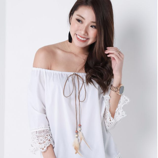 Brand New White Crochet with Tassel