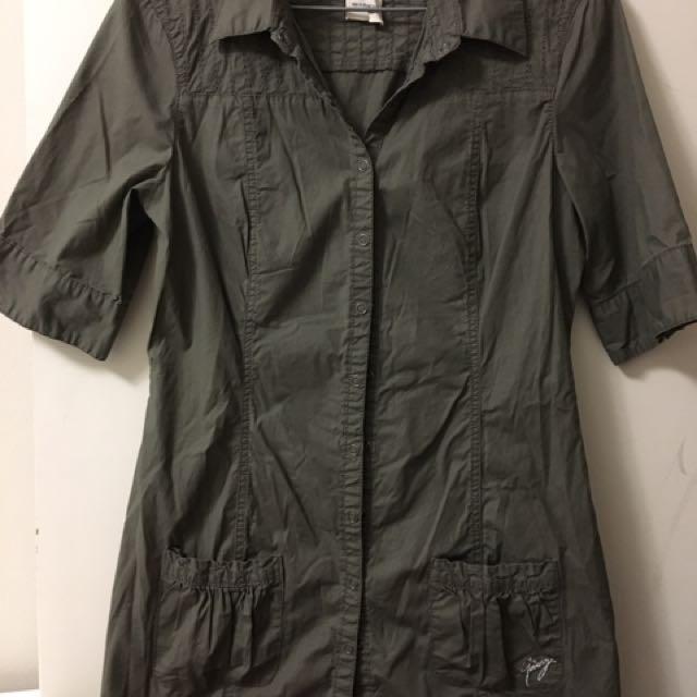Camou button up dress/shirt