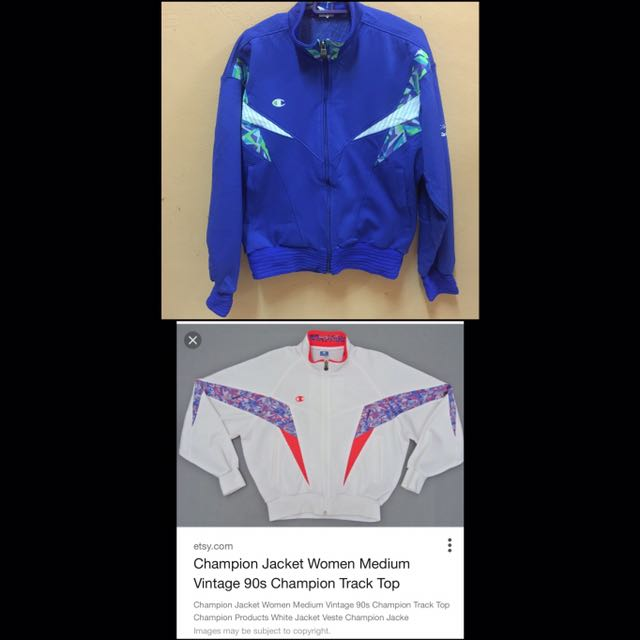 334cb6510f2d Champion Jacket Track Top Vintage 90s