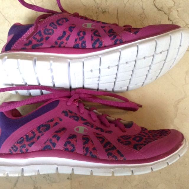 Champion Pink and Violet Rubber Shoes for Kids