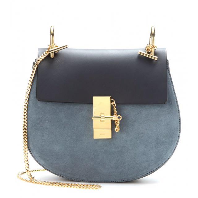 Chloe Leather Crossbody Drew Bag