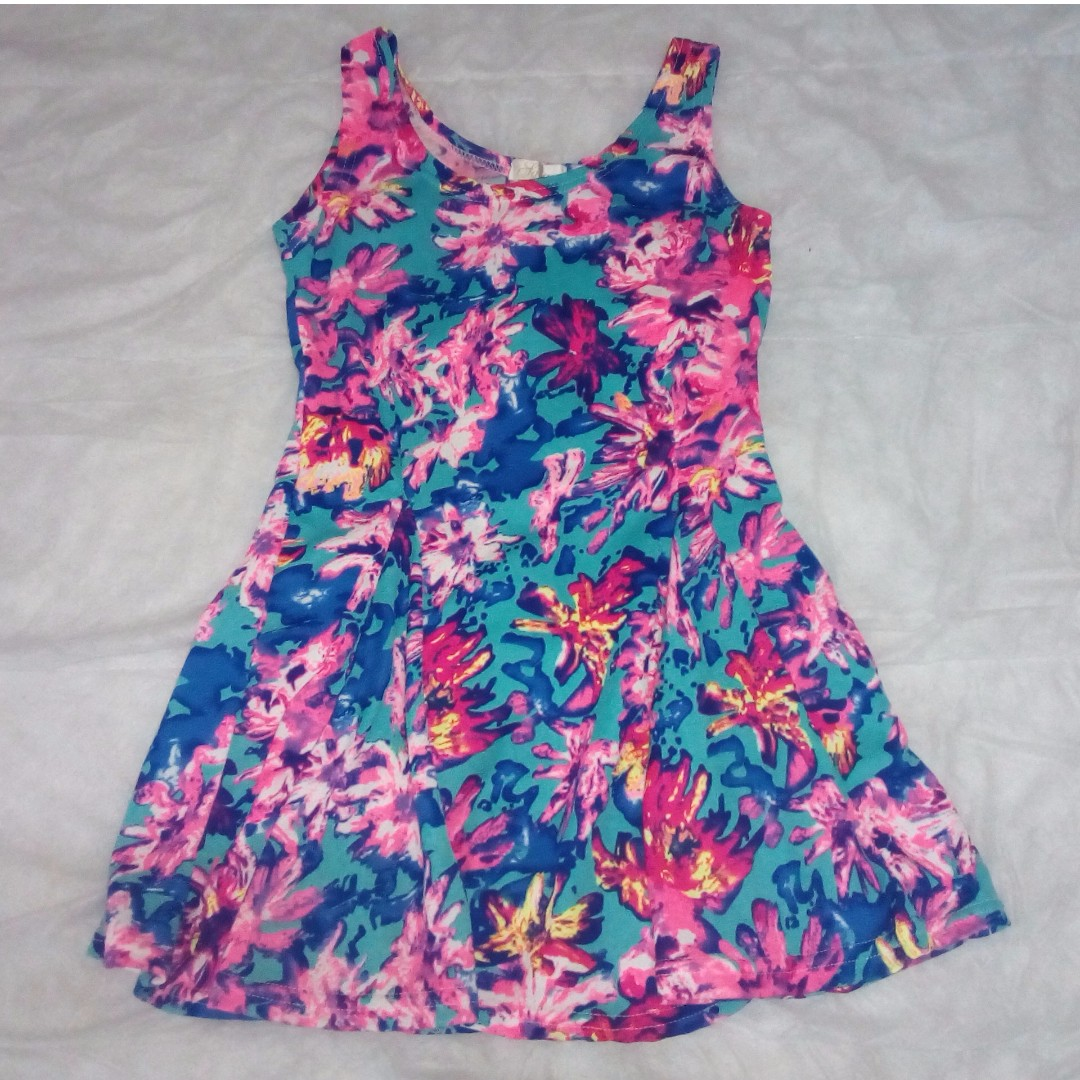 COLORFUL FLOWER POPPIN' MINI DRESS