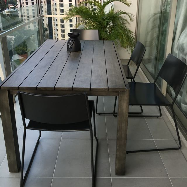 Crate Barrel Outdoor Table Furniture Tables Chairs On Carousell