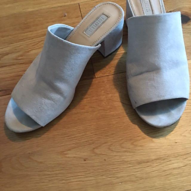 Dove grey heel slides size 8-8.5