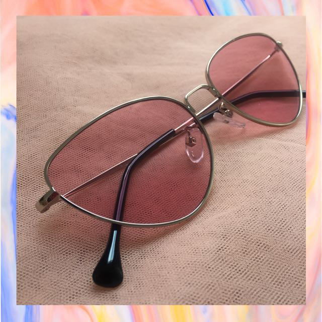 Eleanor cat eye pink sunglasses