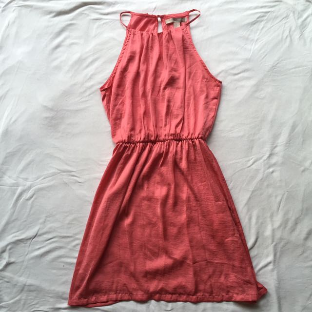 F21 Pink Halter Dress