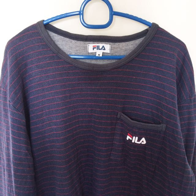 3be19593fef9 Fila Striped Long Sleeve🔥, Men's Fashion, Clothes on Carousell