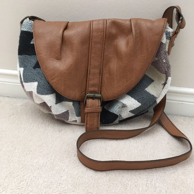 Flip-Over Cross Body Bag with Adjustable Strap