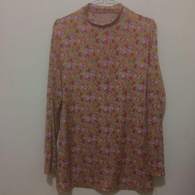 floral top/blouse/manset
