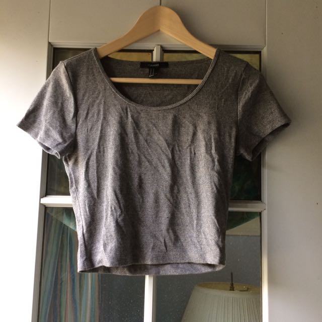 Forever 21 Grey Top