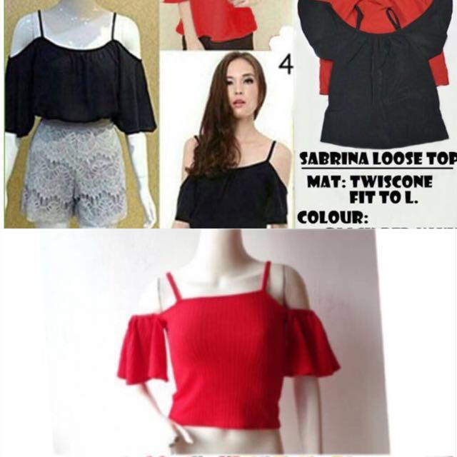 Free ongkir 2pcs Sabrina knitt bkk