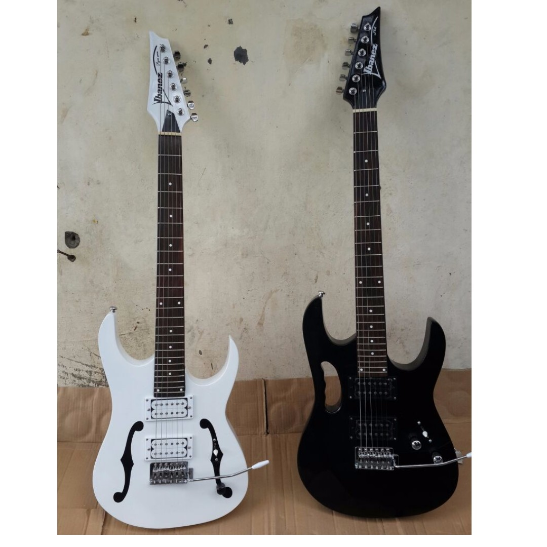 Gitar Elektrik Ibanez Pgm White Series Music Media Instruments On Carousell