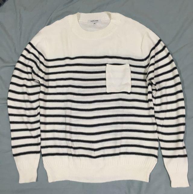 GLOBAL WORK 條紋針織衫 M號