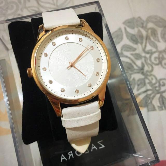 Gold + White Watch