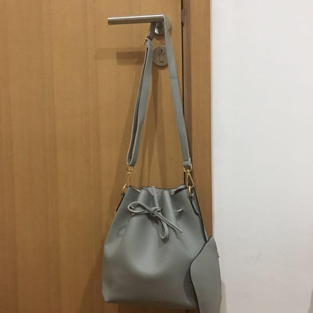 Grey Bucket Bag