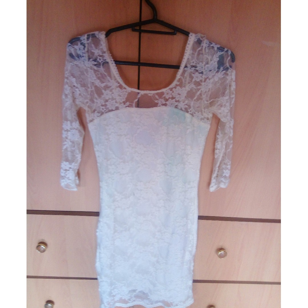 h&m lace bodycon dress