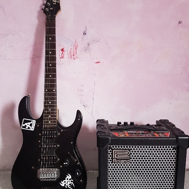 Ibanez Gio Guitar And Roland Amplifier 15w Music Media Instruments On Carousell