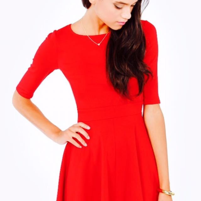 ICONIC Red Skater Dress
