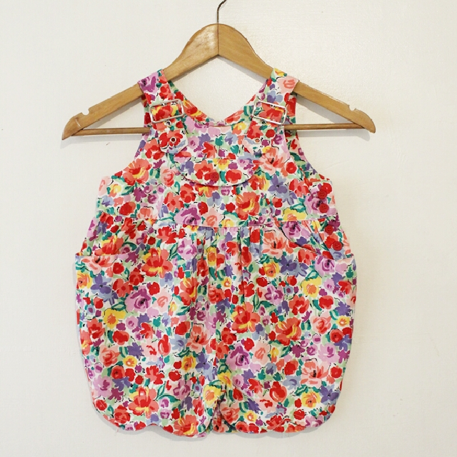 ONHAND KIDS ROMPER IN PINK ORANGE FLORAL PRE-ORDER