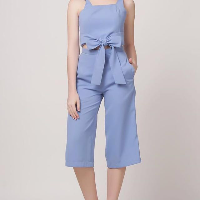 Light blue top and pants set