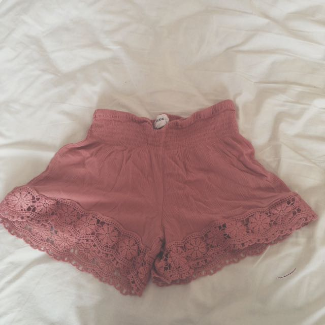Light Pink Boho Shorts