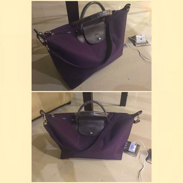 LongChamp Medium In Purple