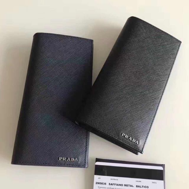 a0284adda060e2 denmark authentic nwt prada black saffiano leather mens bi folded long  wallet de98b cd135; inexpensive man prada long wallet mens fashion bags  wallets ...