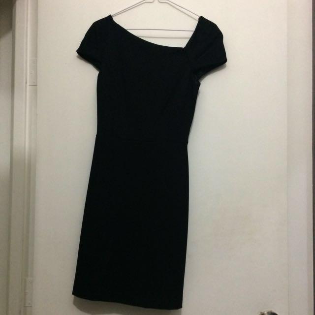 MANGO Black cocktail dress