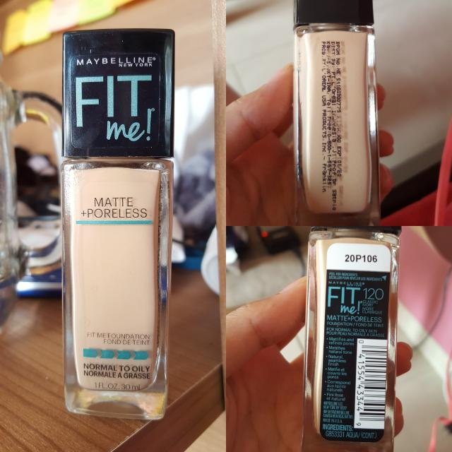 maybelline fit me foundation 120 (classic ivory)