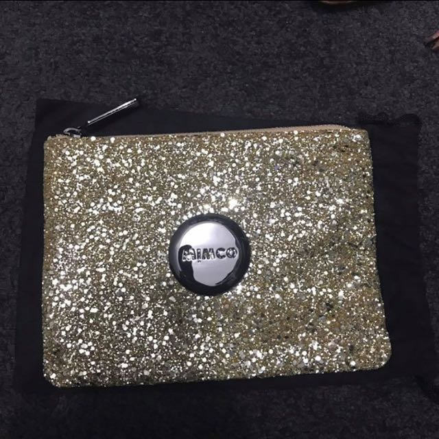Mimco Medium Gold Sparkle Pouch