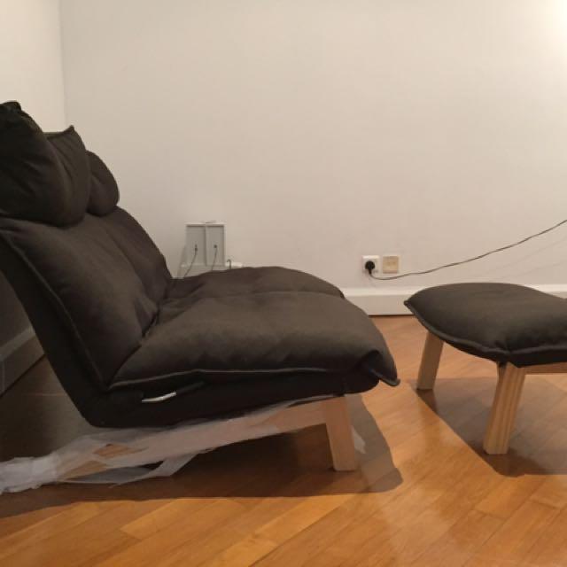 Outstanding Muji High Back Reclining Sofa 2 Seaters Home Furniture Evergreenethics Interior Chair Design Evergreenethicsorg