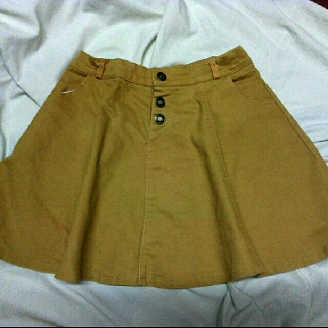 Mustard Denim Skirt
