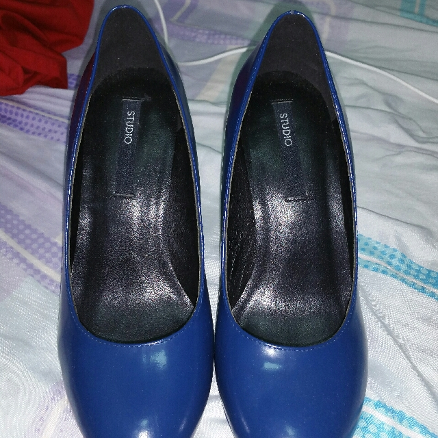 Navy Blue STUDIO TANGS high heel Shoes