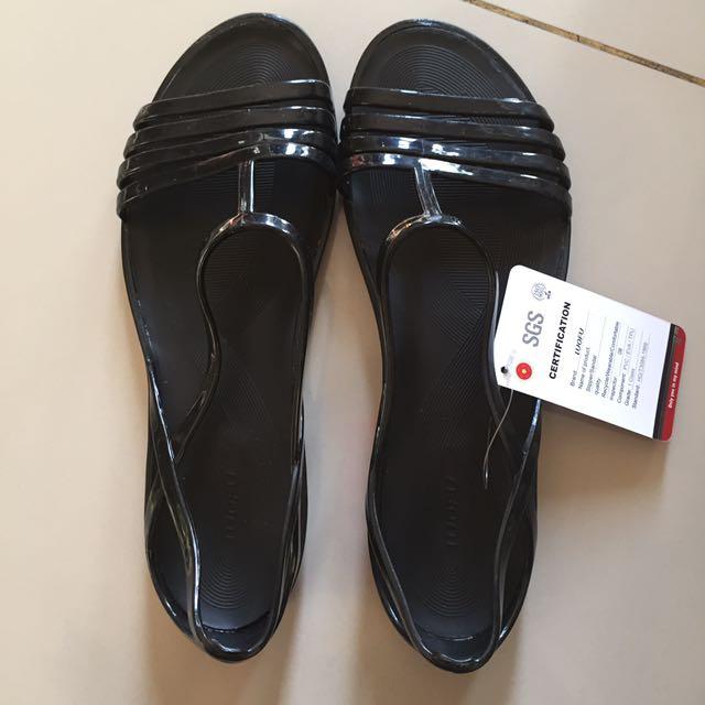 NEW - Black Jelly Sandal