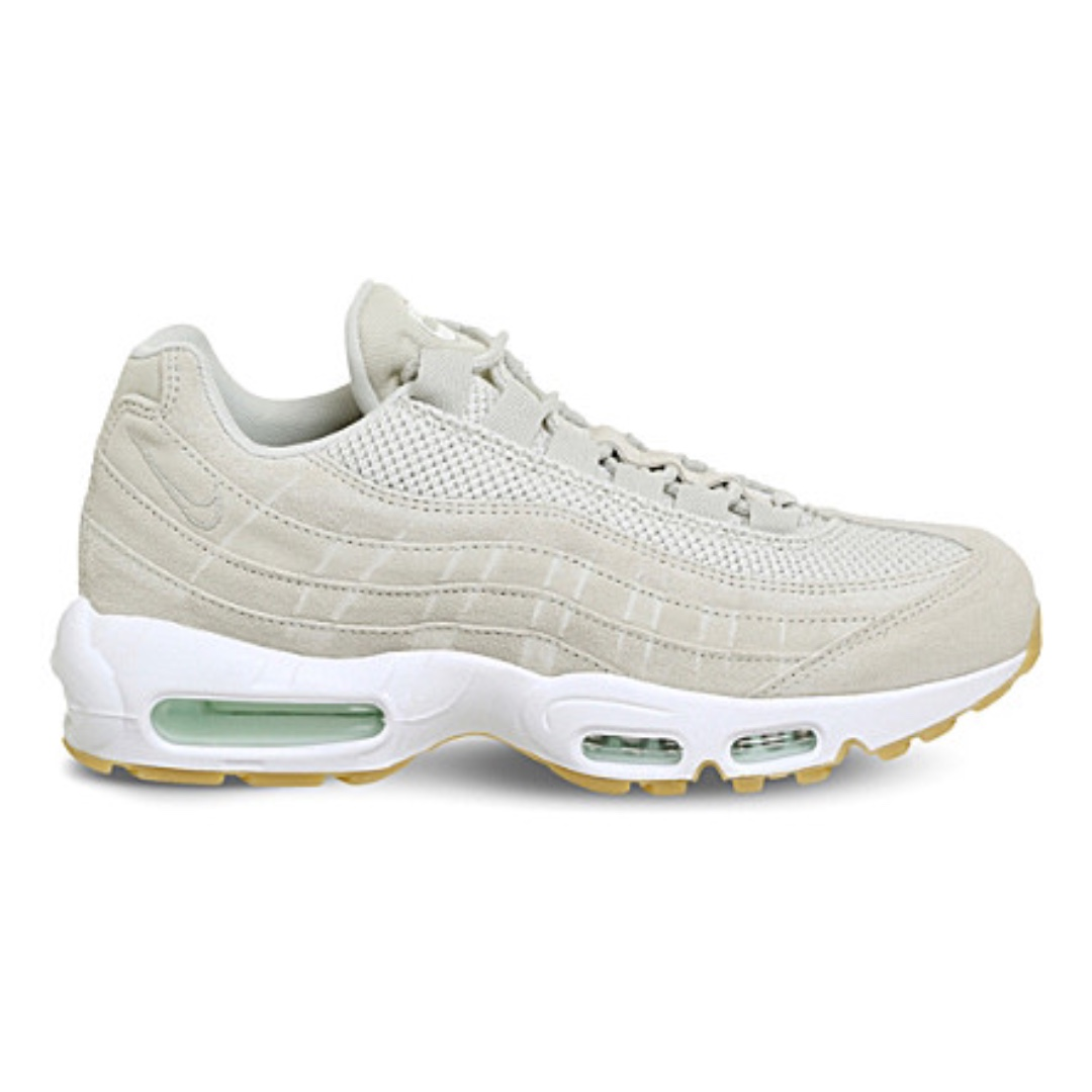 NIKE Air Max 95 suede and mesh trainers米灰
